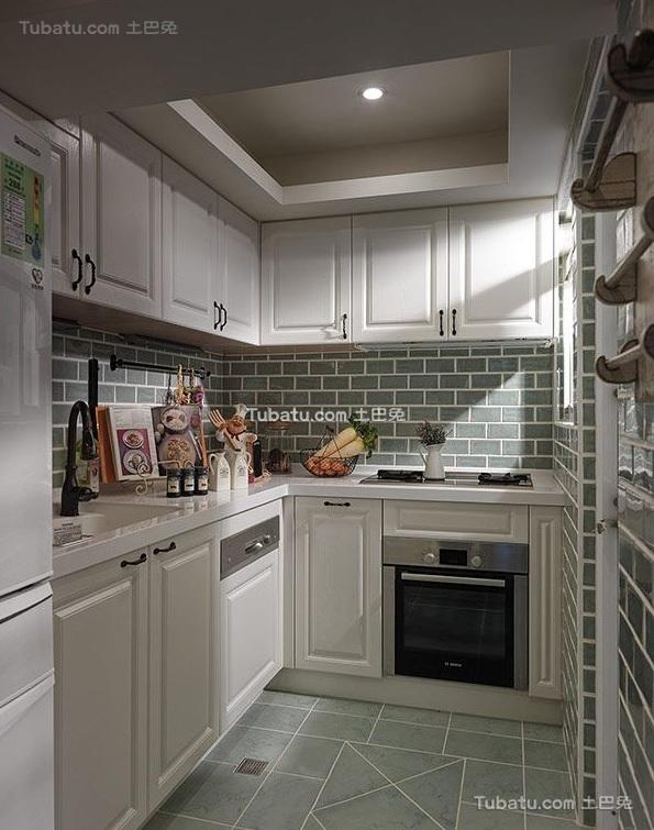 简欧厨房室内家装设计效果图片