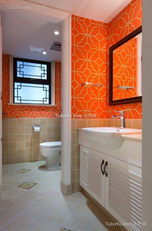 欧式时尚设计别墅室内卫生间图片