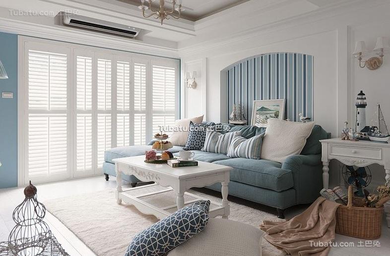 简欧两居室内家装设计效果图片