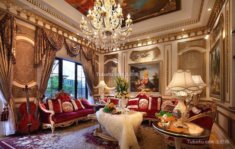 欧式古典风格别墅室内装饰设计效果图片