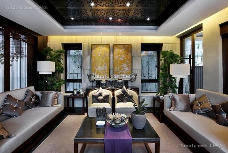 时尚中式风格别墅室内设计图片