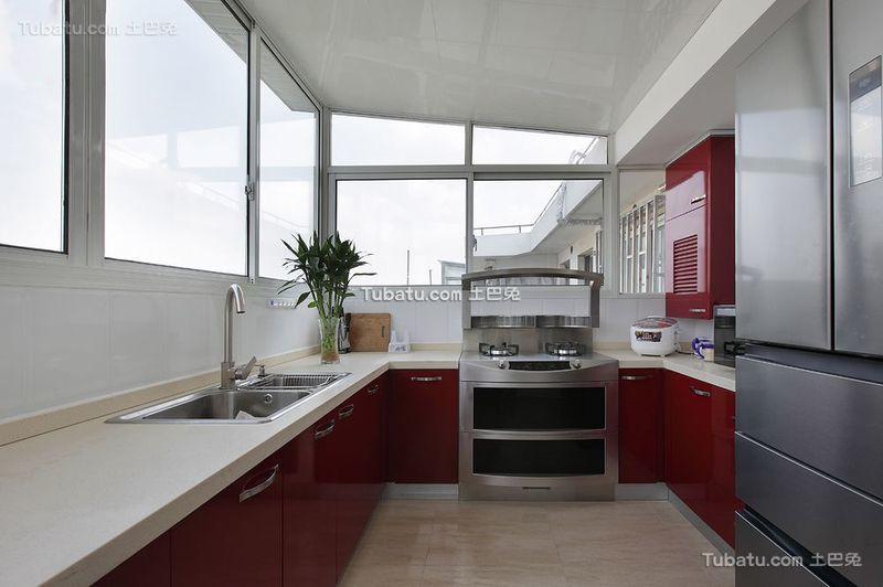 现代风格设计厨房装修效果图片