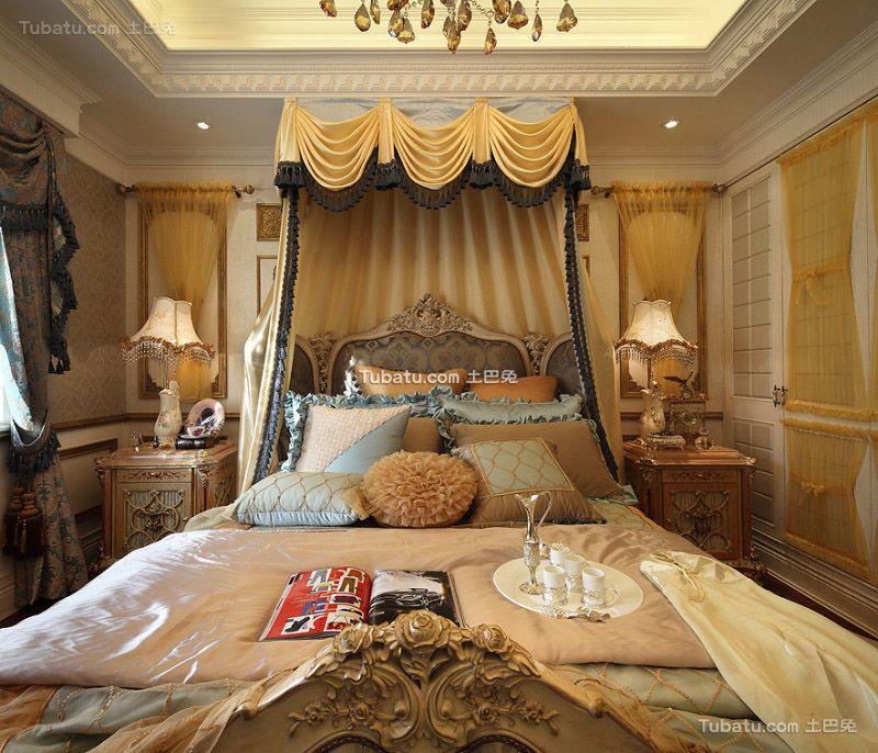 欧式古典风格卧室装饰设计效果图片