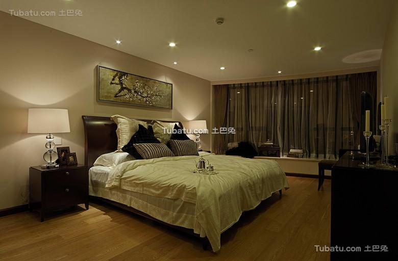 现代新中式卧室效果图
