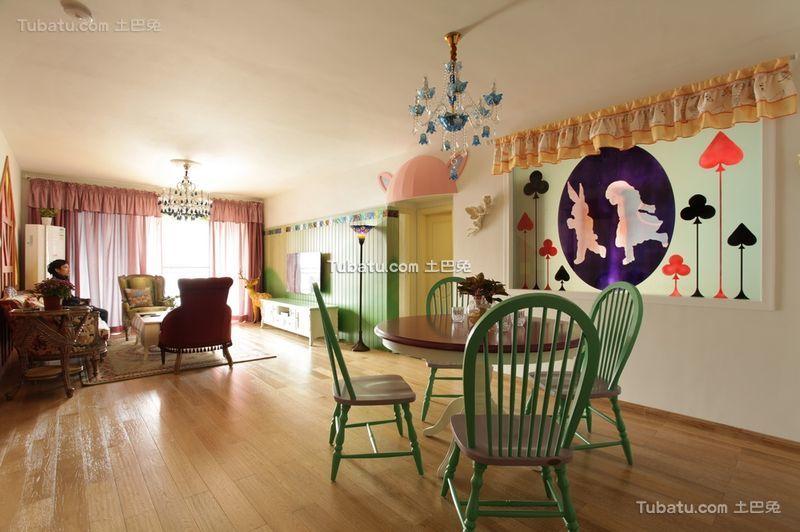 田园风格设计家居餐厅装饰效果图片