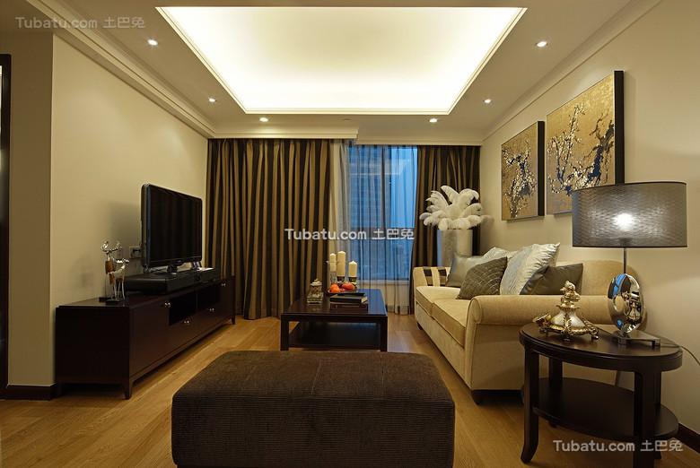 现代新中式客厅效果图