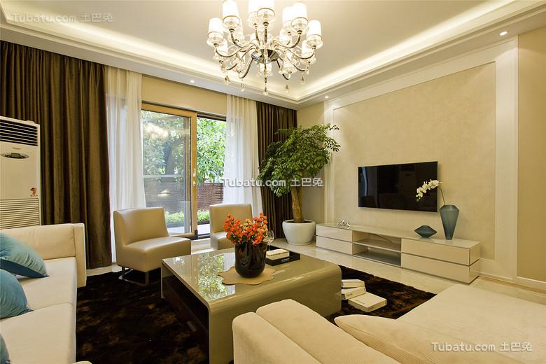 现代温馨简约客厅设计