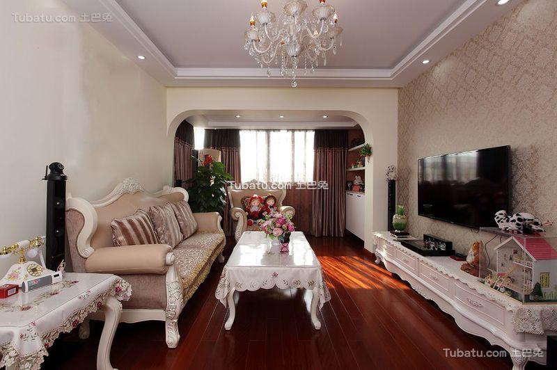 简欧风格设计三居室内装修效果图片
