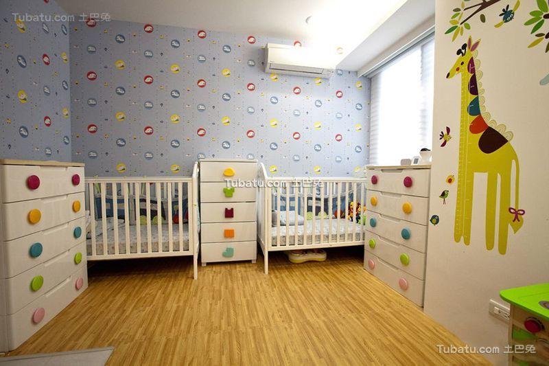 现代简约设计室内儿童房装修图片