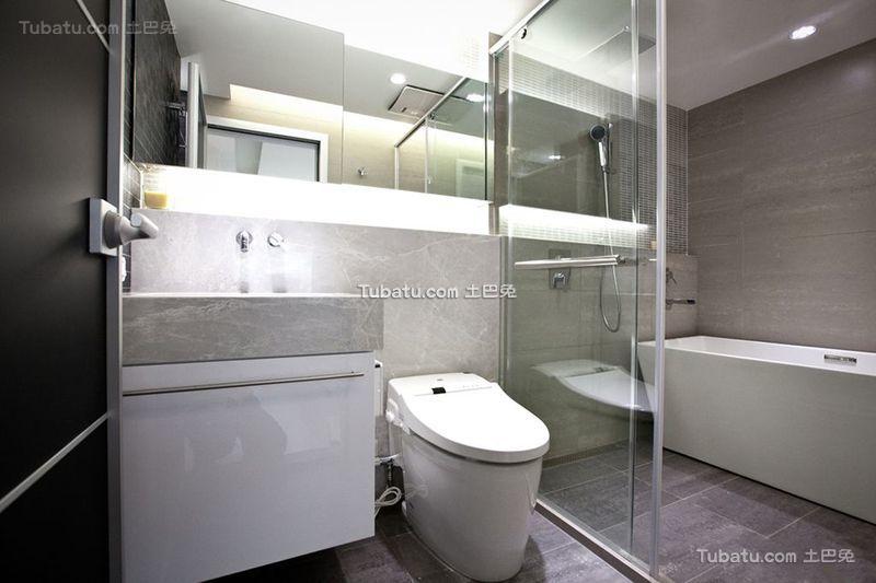 现代简约设计卫生间室内装修图片