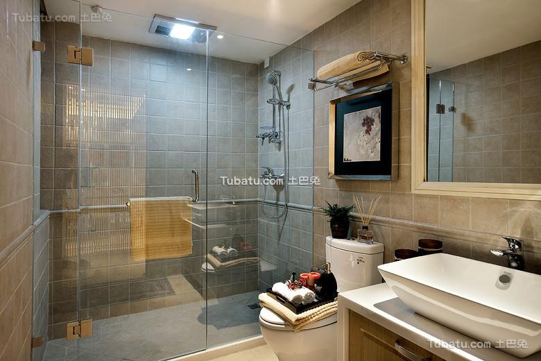 低奢新中式卫生间装饰装修