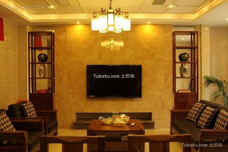 新中式风格设计复式室内装饰效果图片