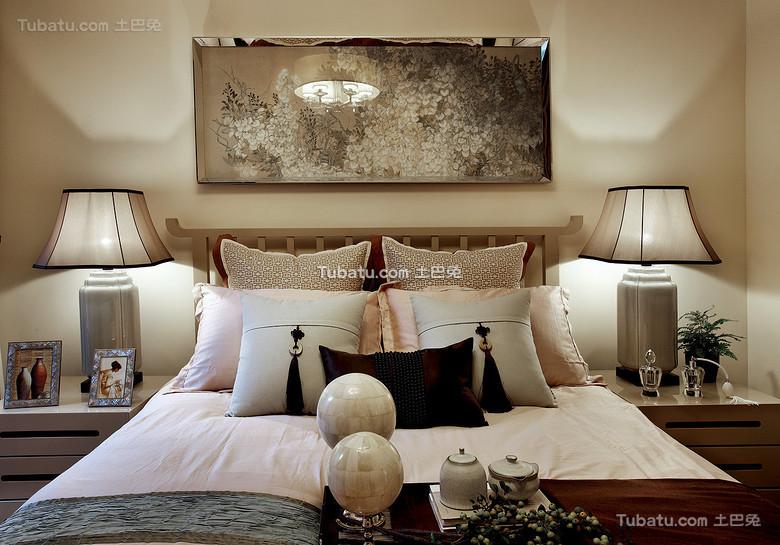 奢华风新中式卧室装饰