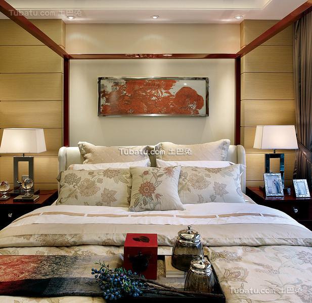 奢华风新中式卧室装饰装修