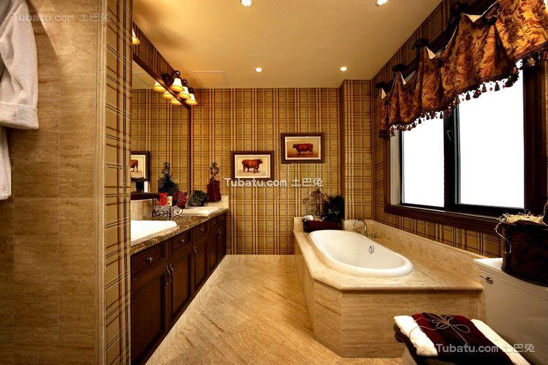 欧式复古风格别墅室内卫生间装修图片