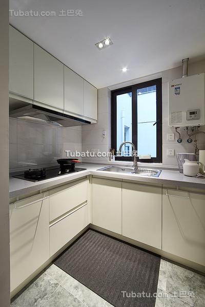 白色北欧风格小厨房设计