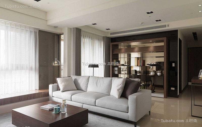 摩登现代客厅装潢设计
