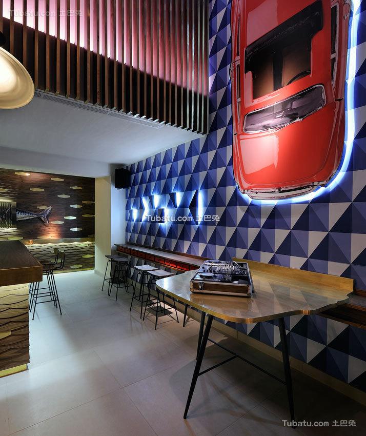 LOFT海洋主题咖啡厅效果图