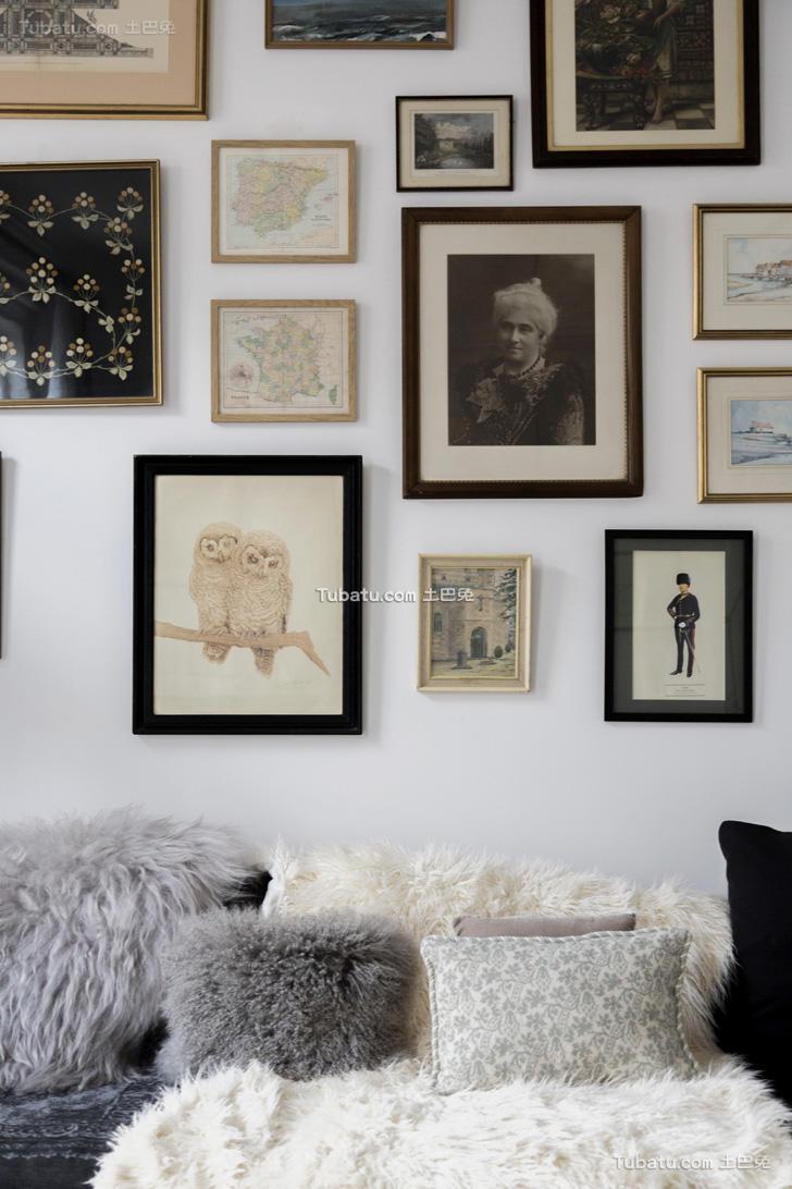 时尚复古混搭北欧照片墙