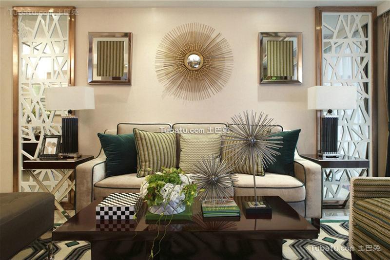 现代奢华混搭客厅