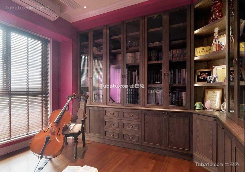 复古简美装修书房