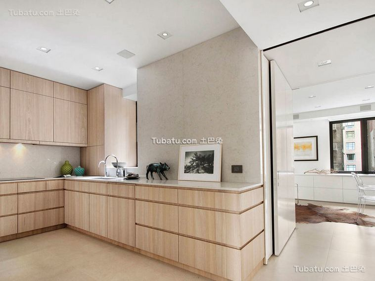 简约纯净空间原木厨房