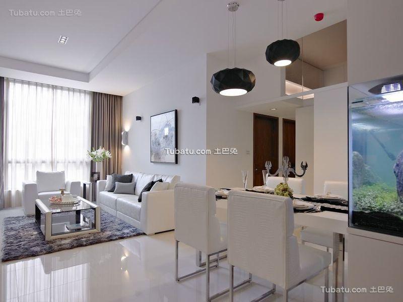 优雅净白现代二居设计