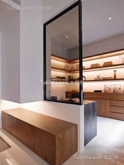 优雅净白现代空间书房