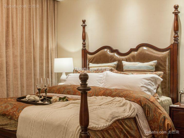 悠闲复古美式卧室