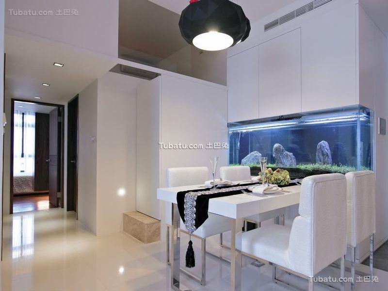 优雅净白现代餐厅空间