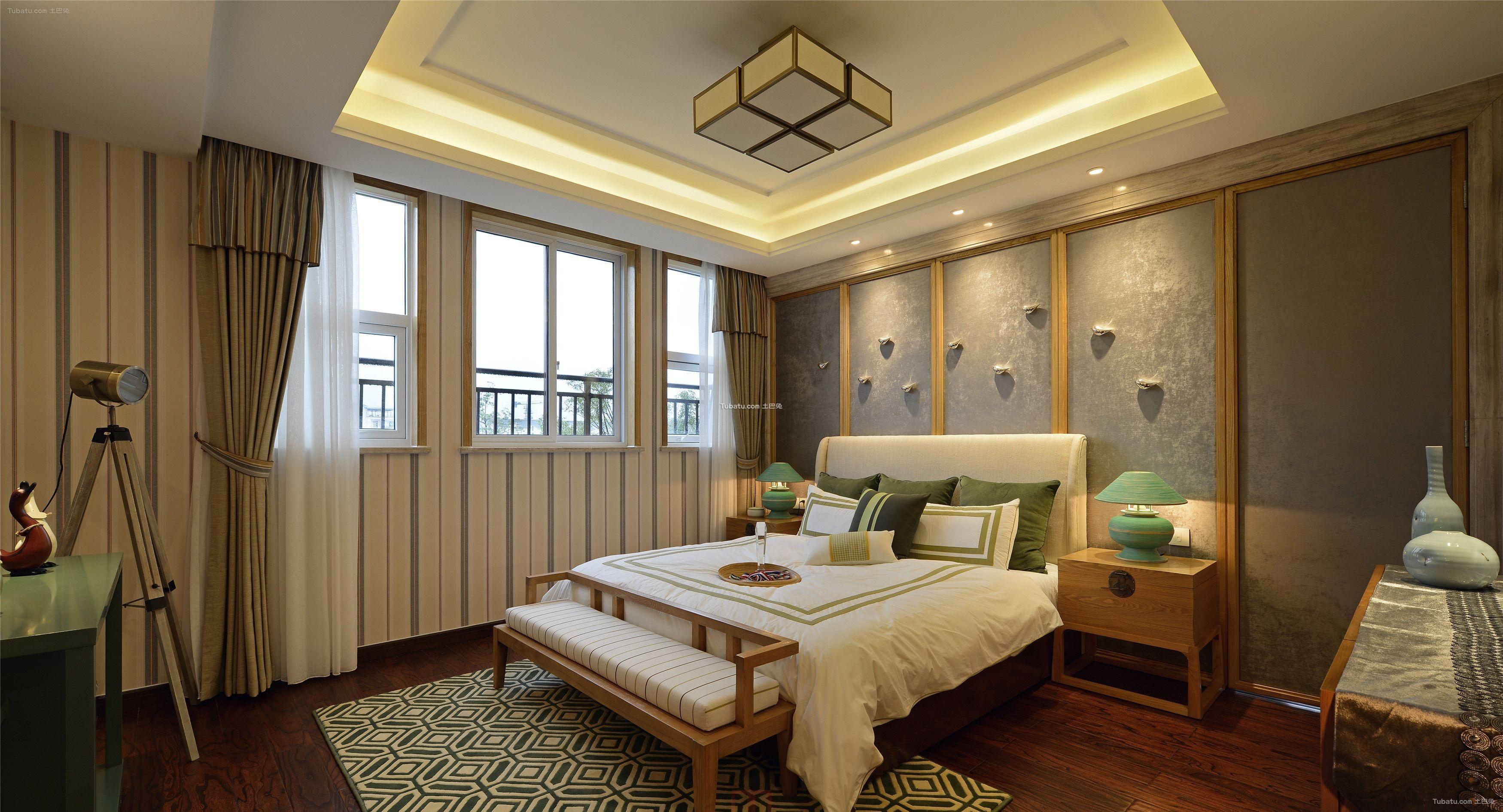 儒雅新中式卧室设计装饰