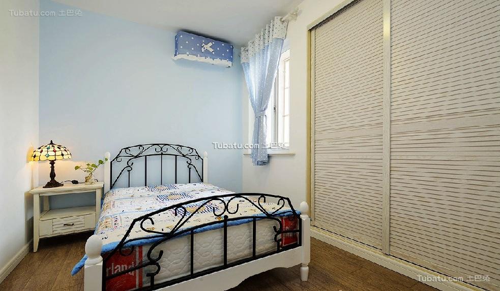 蓝色梦幻地中海儿童房