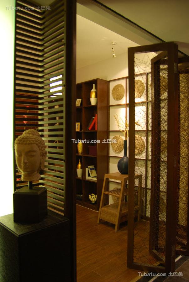 东南亚风格特色背景墙效果图