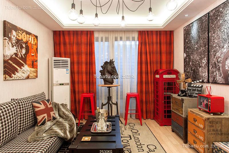 欧式风格温馨客厅图