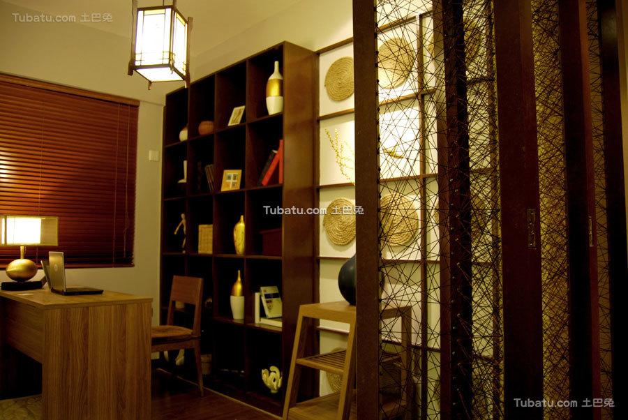 东南亚风格二居书房效果图