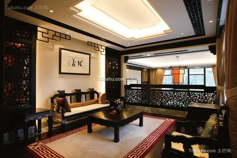 传统中式客厅效果图