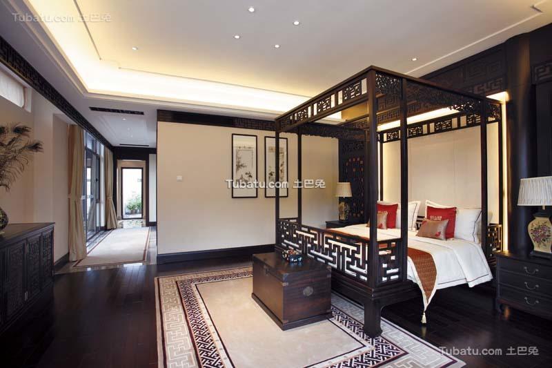 传统中式主卧室效果图