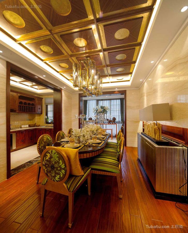 东南亚四居室餐厅效果图