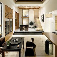 人文情怀的日式风格客厅效果图