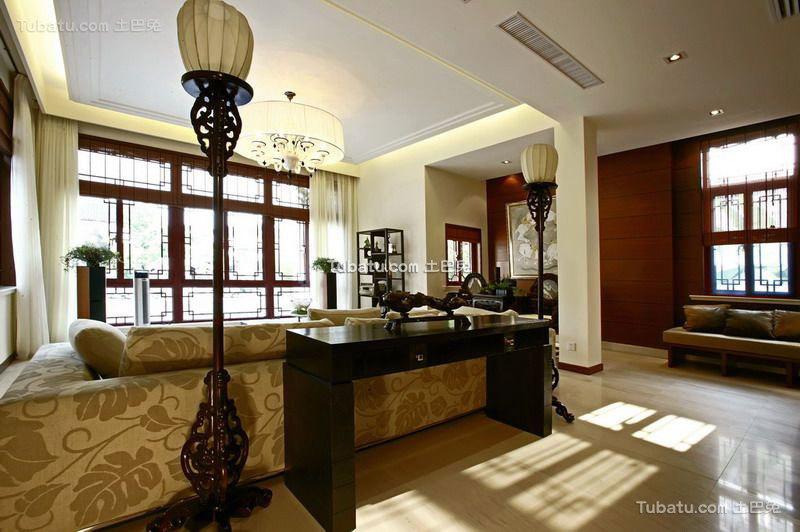 宫廷风中式客厅效果图