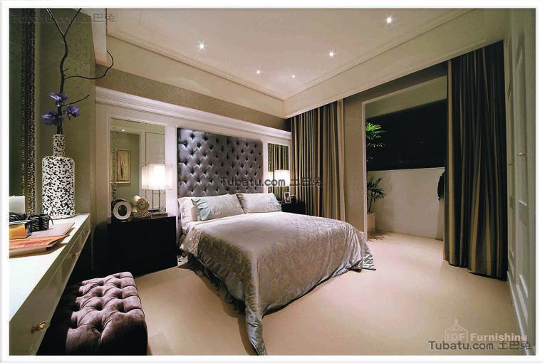 j简约的简欧风格卧室效果图