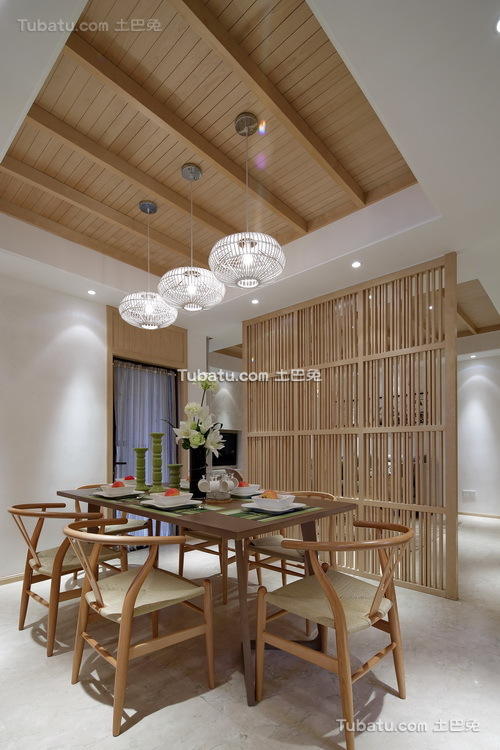 日式三居餐厅设计图