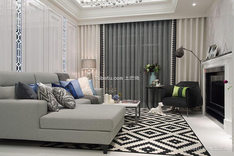 欧式风格的客厅设计图