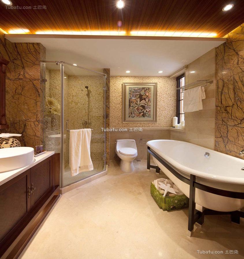 东南亚四居室卫生间效果图