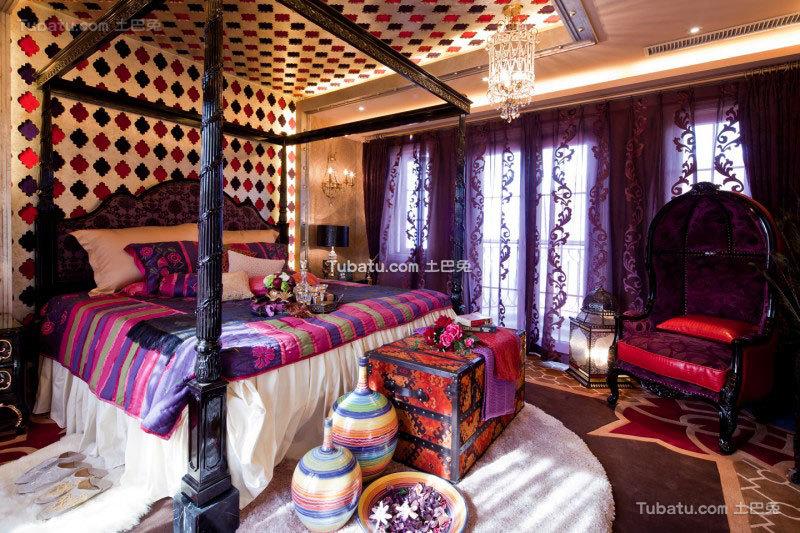 传统的东南亚风格卧室效果图