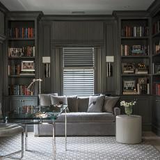 美式风格的书房效果图