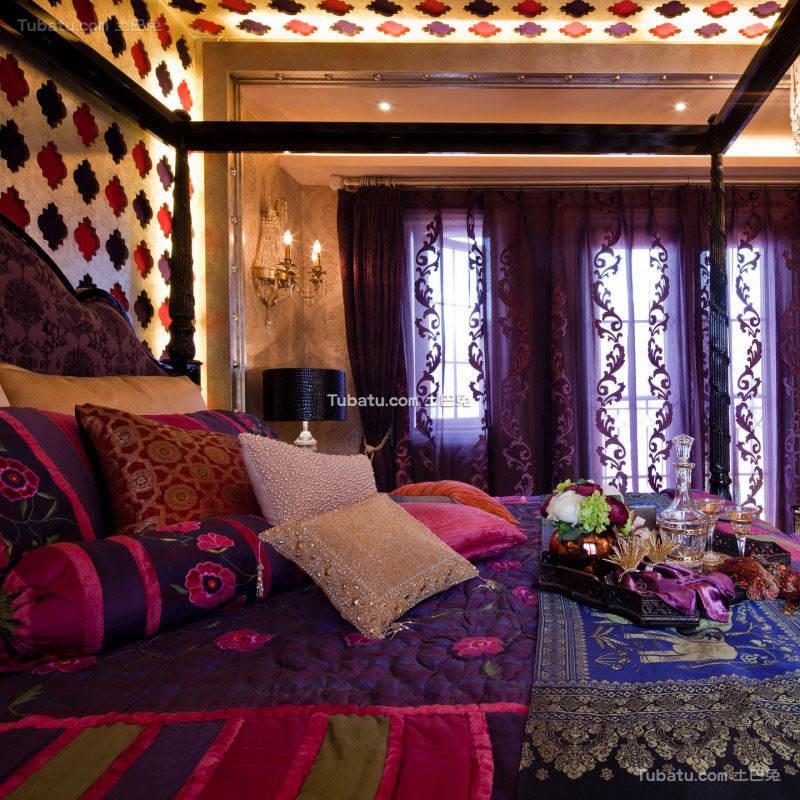 传统的东南亚风格窗帘设计图