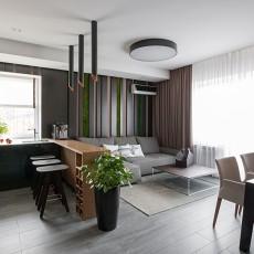 现代二居室家装效果图