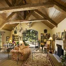 浪漫地中海风格客厅效果图