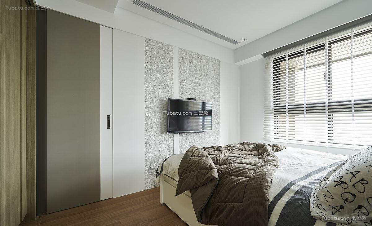 轻美式北欧风格家装卧室效果图